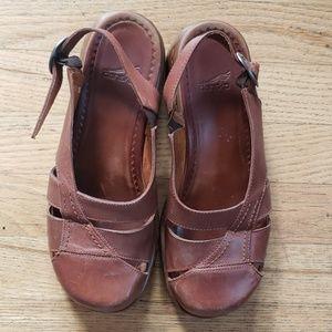 Brown Dansko Leather Slip On Size 39